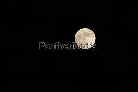 detailed and isolated full moon on