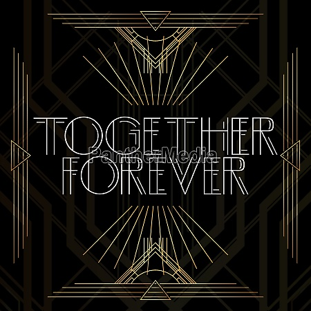 golden decorative together forever sign with