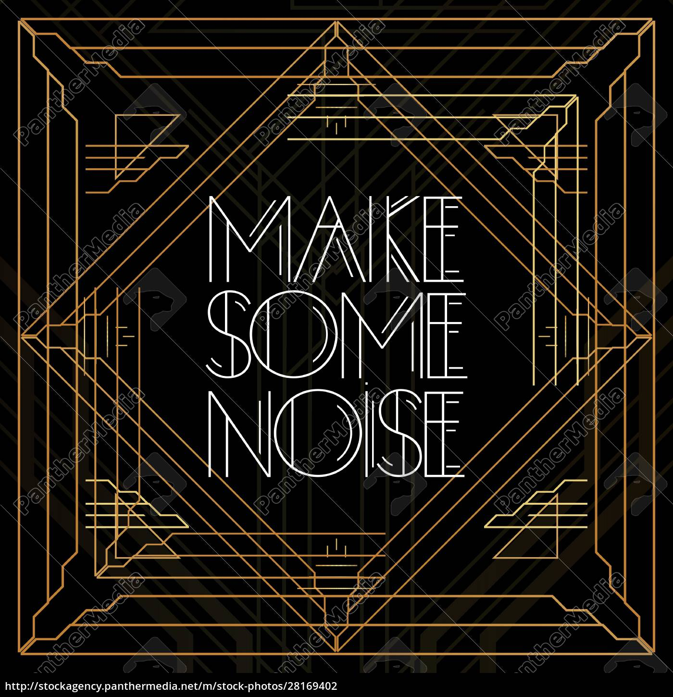 golden, decorative, make, some, noise, sign - 28169402