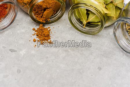 a selection of herbs and spices