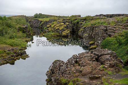 the silfra fissure Tingvellir where the