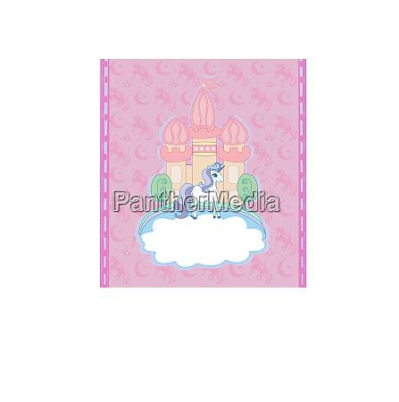 cute unicorns and fairy tale princess