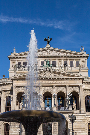 old opera house with fountain in