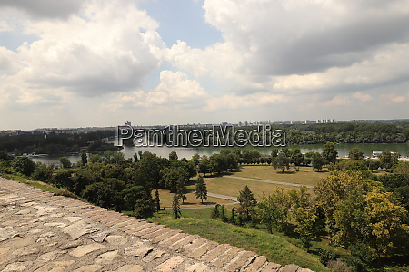 view from the belgrade fortress to