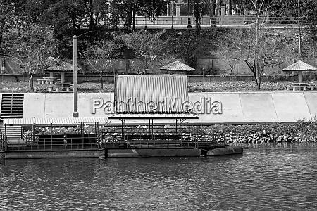 floating platform roof metallic structure leisure