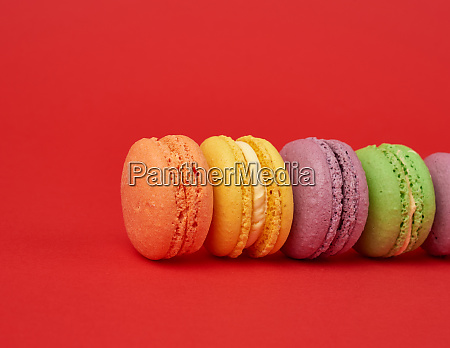 pile of multi colored baked macarons