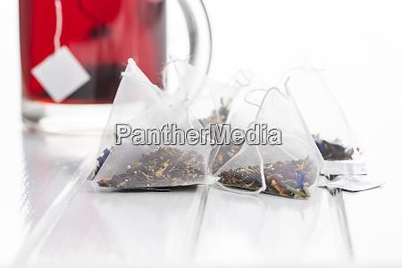floral tea bags