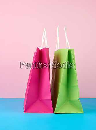 empty, multicolored, paper, bags, for, shopping - 28175490