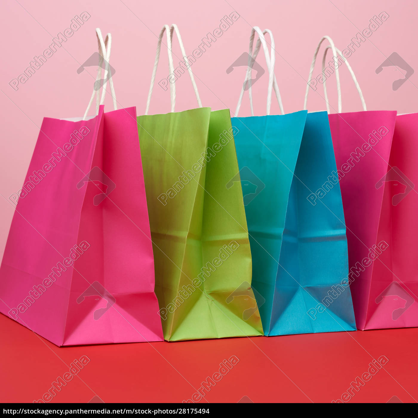 empty, multicolored, paper, bags, for, shopping - 28175494