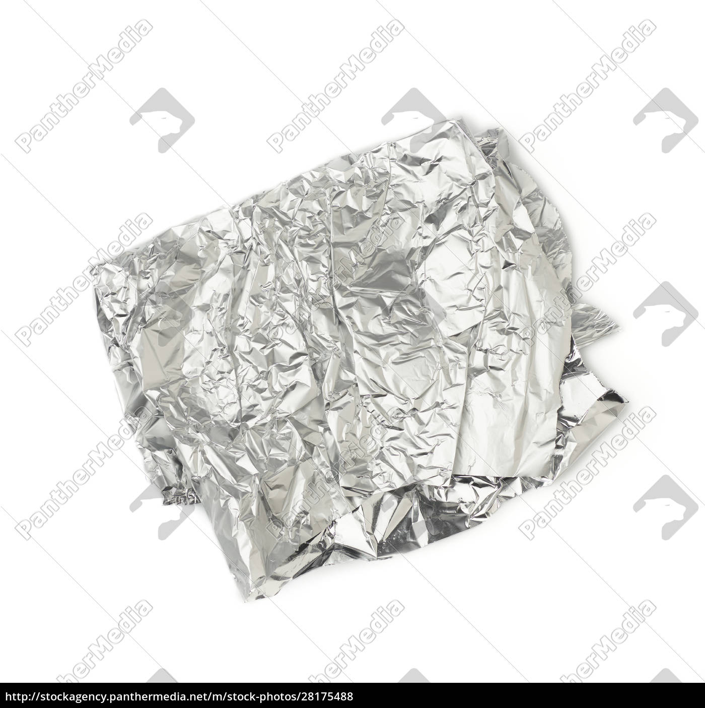 frosted, crumpled, piece, of, foil, isolated - 28175488