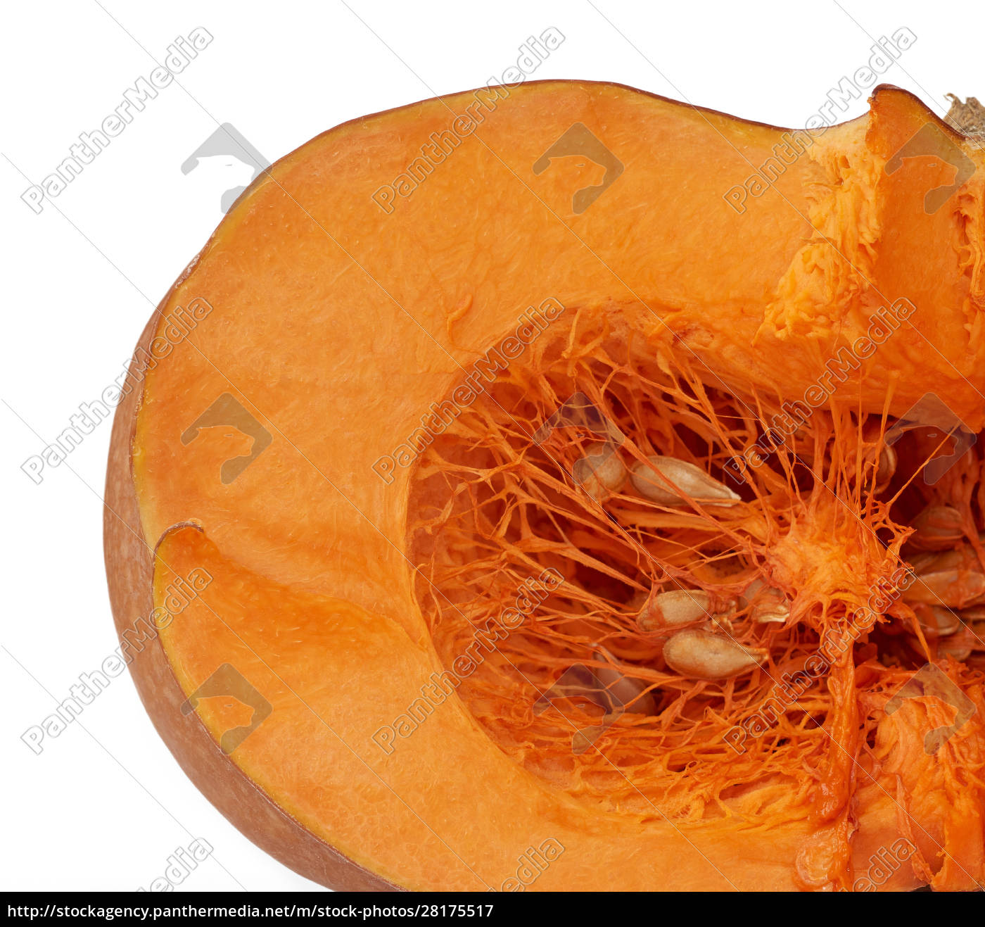 halved, big, orange, pumpkin, with, seeds - 28175517