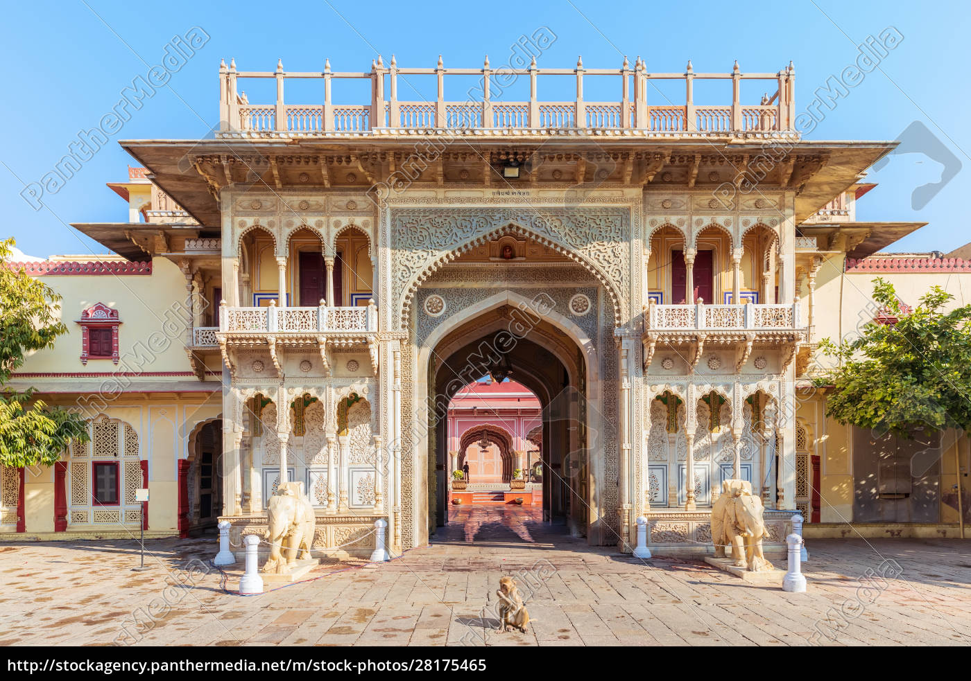 india, , city, palace, of, jaipur, , view - 28175465