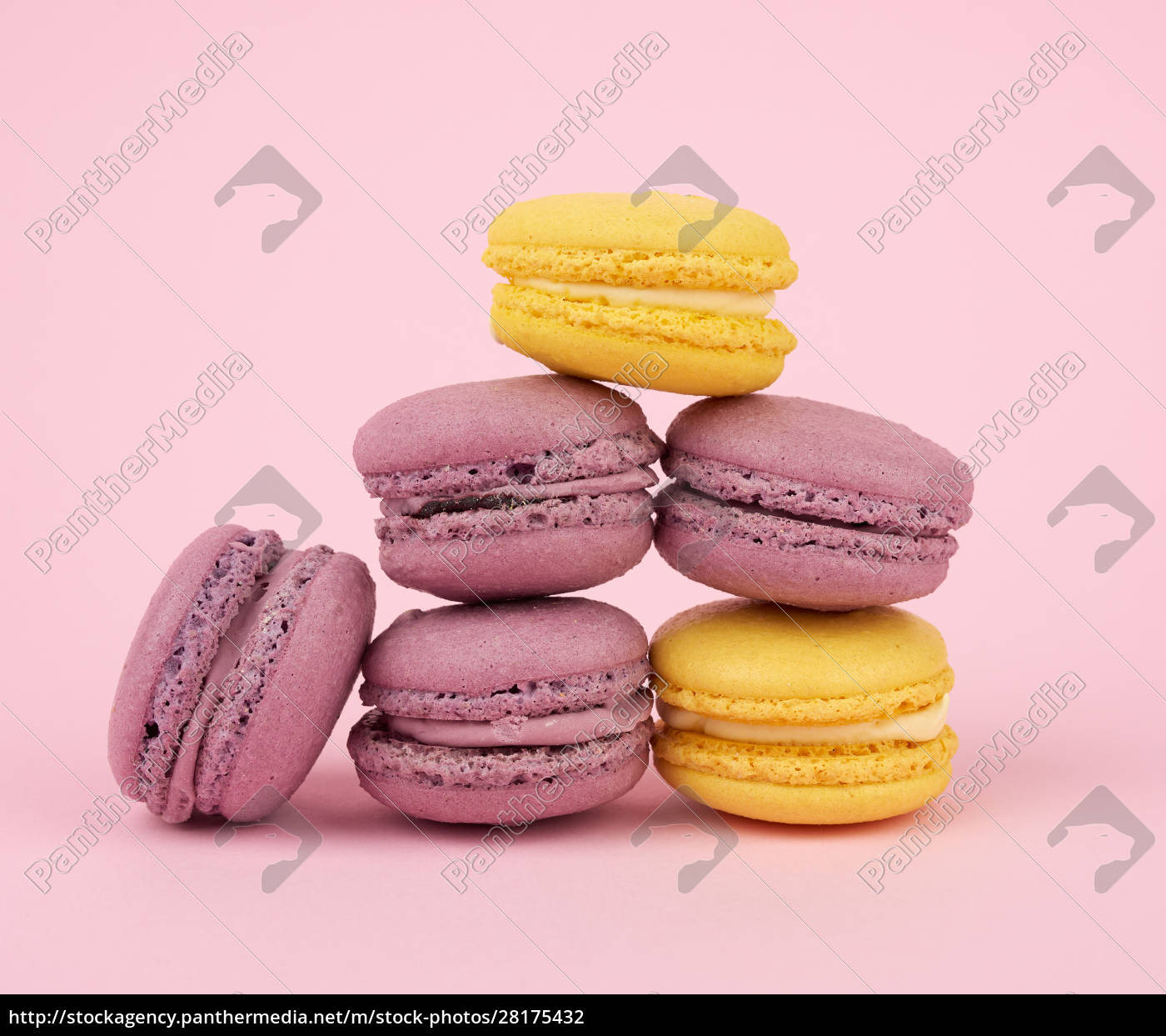 many, multi-colored, round, baked, macarons, cakes - 28175432