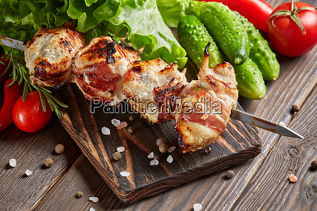 grilled chicken with bacon
