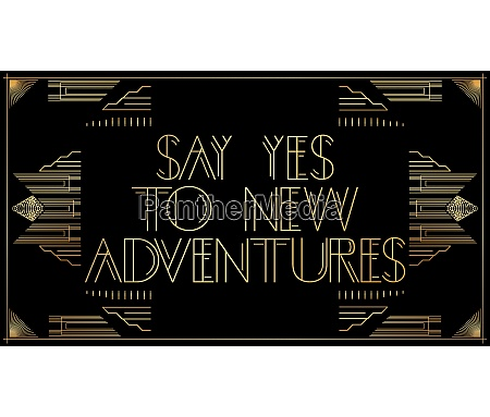 golden decorative say yes to new