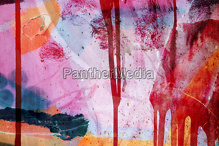 colorful surface texture with splashes of