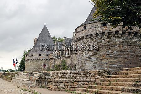 medieval castle rohan or chateau pontivy