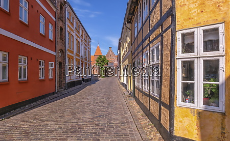 street in medieval city of ribe