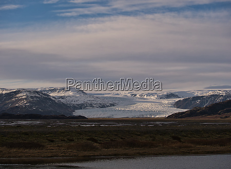 view of glacier arm on the