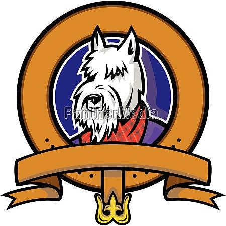 scottish terrier belt loop mascot