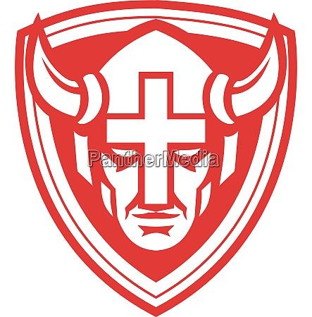 christian viking cross crest mascot