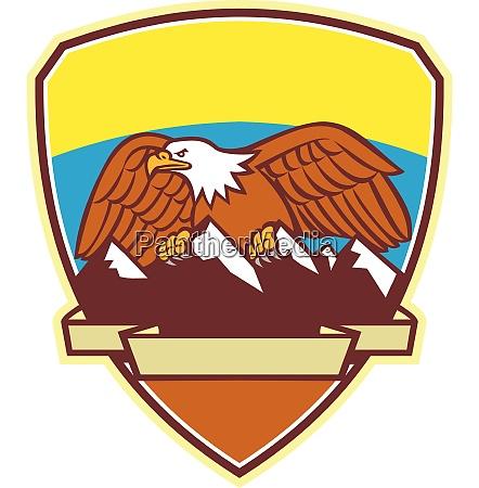 eagle mountains badge retro