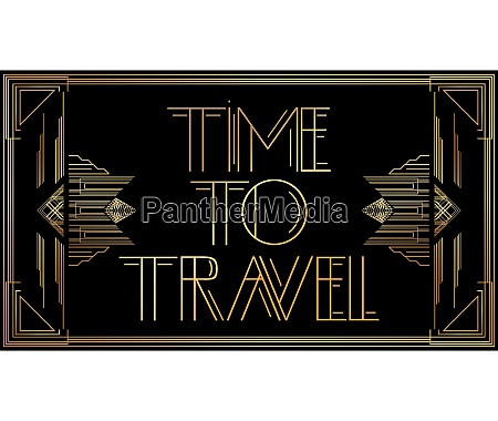 golden decorative time to travel sign