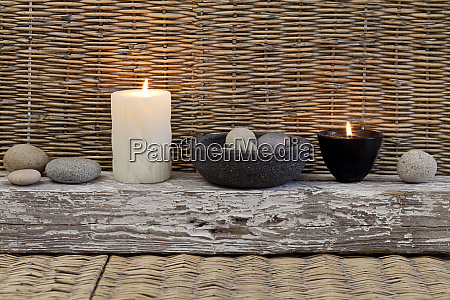 zen still life with candle