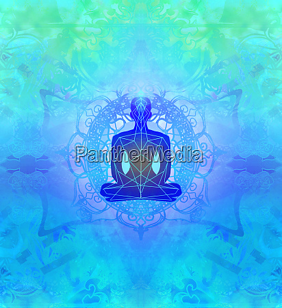 man silhouette meditate yoga
