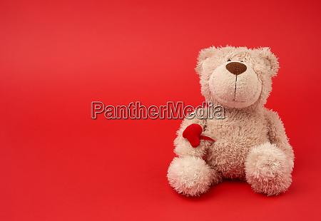 cute little brown teddy bear toy