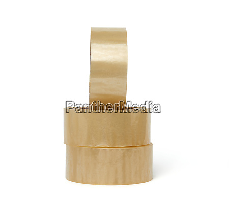 stack of transparent adhesive tape in