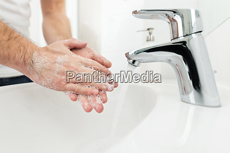 washing hands as a prevetion against