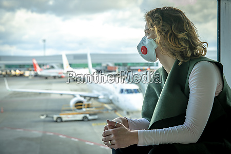 woman with a mask on her