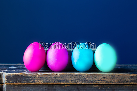 dyed colorful easter eggs pastel colors