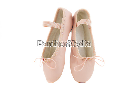 isolated pair of beginner ballerina shoes