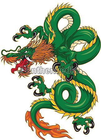 chinene zodiac dragon animal green horoscope