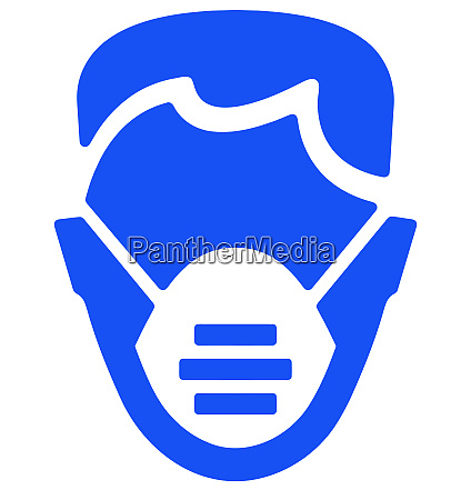 mask head respiratory protection safe blue