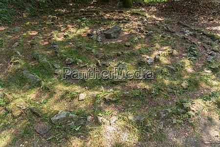 spiral labyrinth forest floor