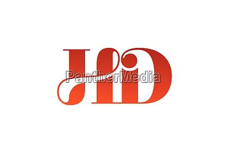 h d hd initial letter logo
