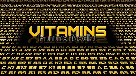 vitamins symbols in random order