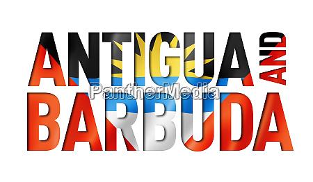 antigua and barbuda flag text font
