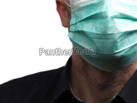 businessman with a medical mouth guard