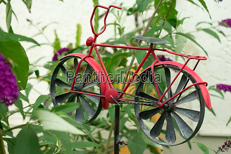 bicycle model in the garden