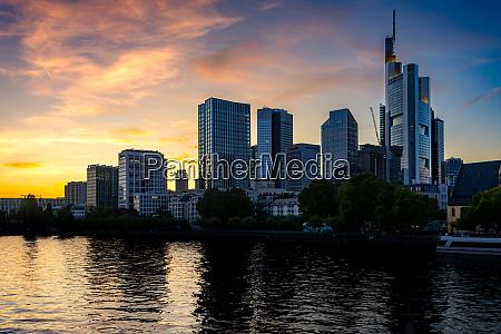 skyline of frankfurt at the main