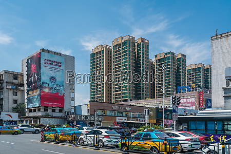 traffic lights in yichang town in