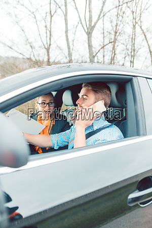 driving instructor being mad at student