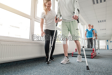 people in rehabilitation learning how to