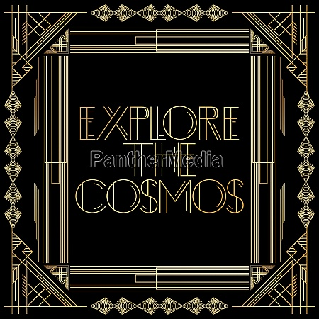 golden decorative explore the cosmos sign