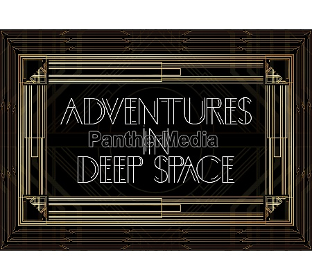 golden decorative adventures in deep space