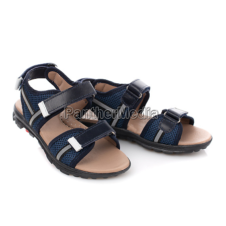 dark blue with black sandals for